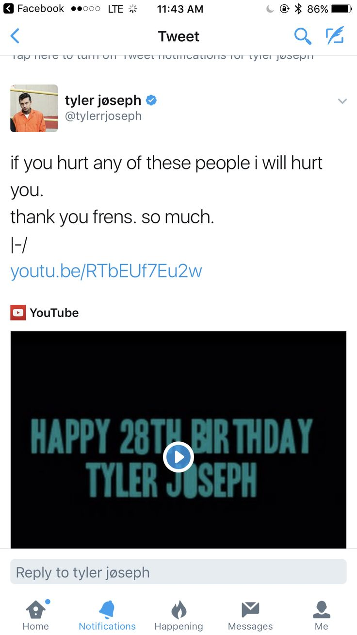 MY HAPPY BIRTHDAY CARD TO TYLER WAS IN THAT VIDEO SO IF YOU HURT ME TYLERS COMIN FOR YOU