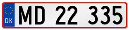 European License Plates