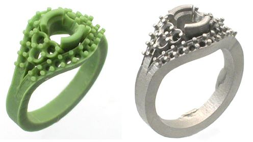 wax ring and casted ring