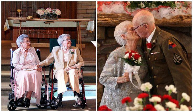 8 adorables parejas de ancianos que decidieron casarse
