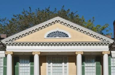 The Architectural Pediment and How to Use It: Pediment of the Griswold House at Florence Griswold Museum, Old Lyme, Connecticut