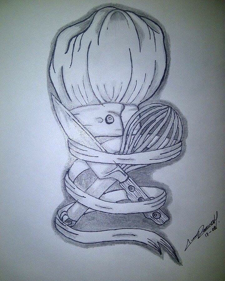 Cooking Life Tattoo Art Design Whisk Knife Chef My
