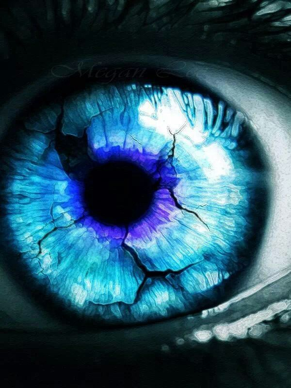 """Blue eye""  It is through the vision of the eyes controlled by our heart that we see love and promptly fall in ♡"