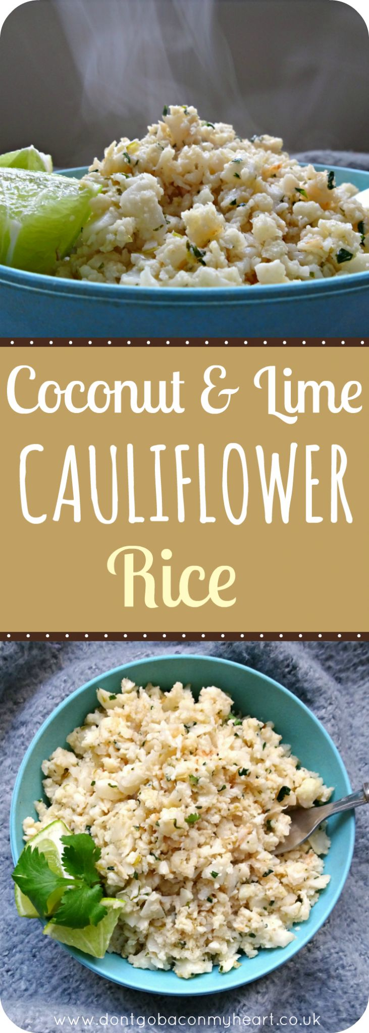 Coconut and Lime Cauliflower Rice is the easiest low-carb alternative that's bursting with flavour. The perfect side dish to your favourite meal.
