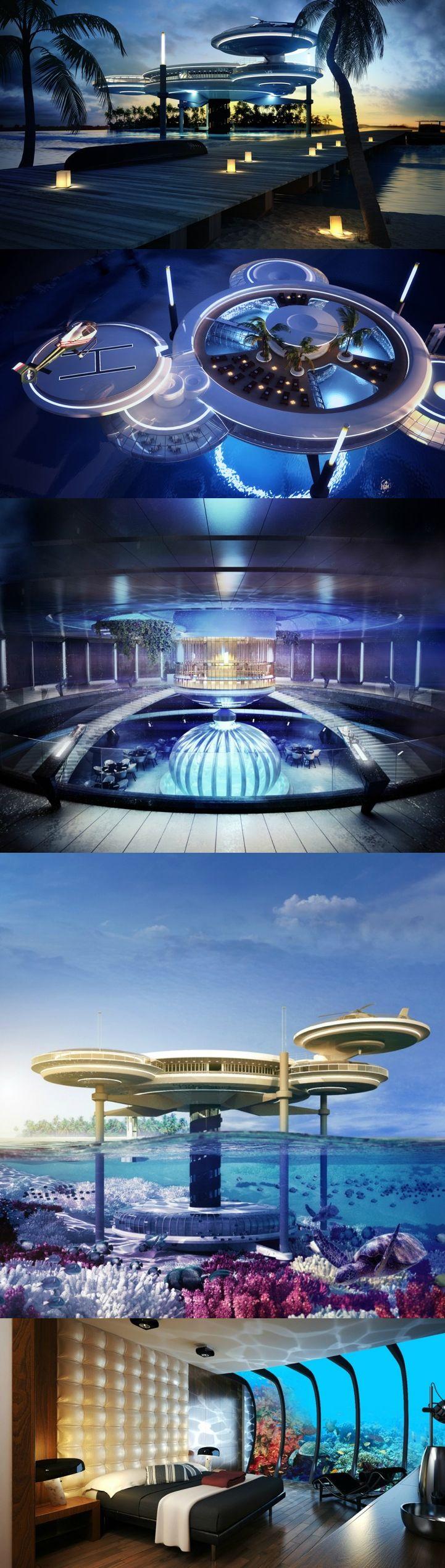 Dubai underwater hotel blueskywindows upvc for Modern hotel dubai