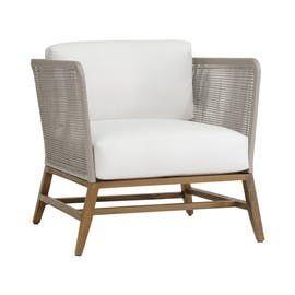Avila Teak Outdoor Lounge Chair   Contemporary, Transitional, Contemporary, Transitional, Upholstery  Fabric, Wood, Upholstery  Fabric, Wood, Lounge Chair by Cudesso