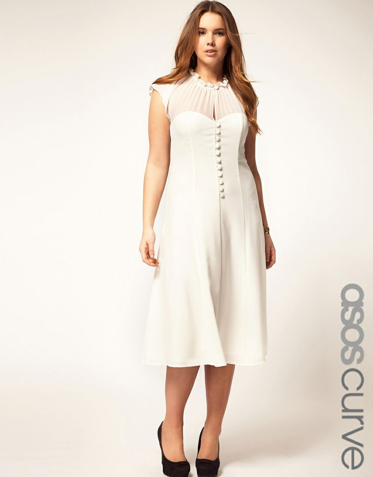 ASOS CURVE Dress With Button Front