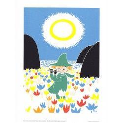 Moomin Poster Snufkin Tove Jansson 24 x 30 cm