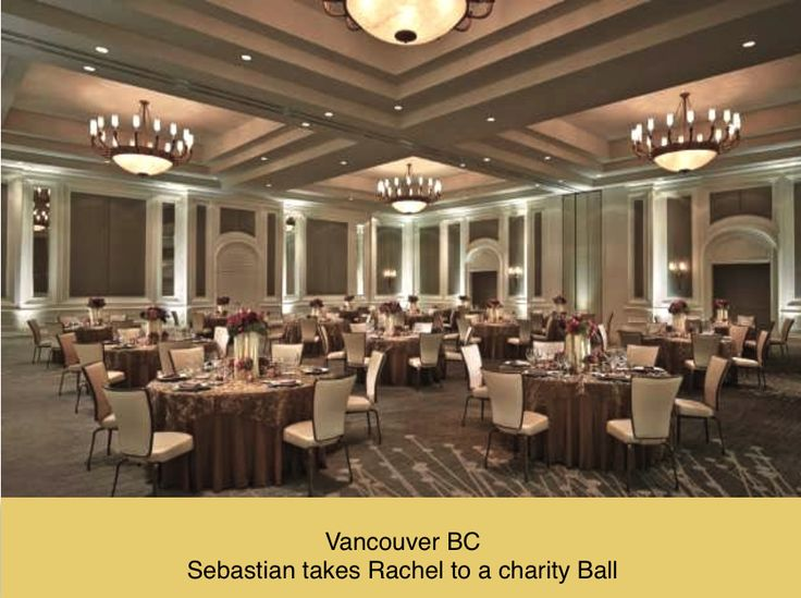 The charity ball at the Four Seasons Hotel. Sebastian takes Rachel as his date.
