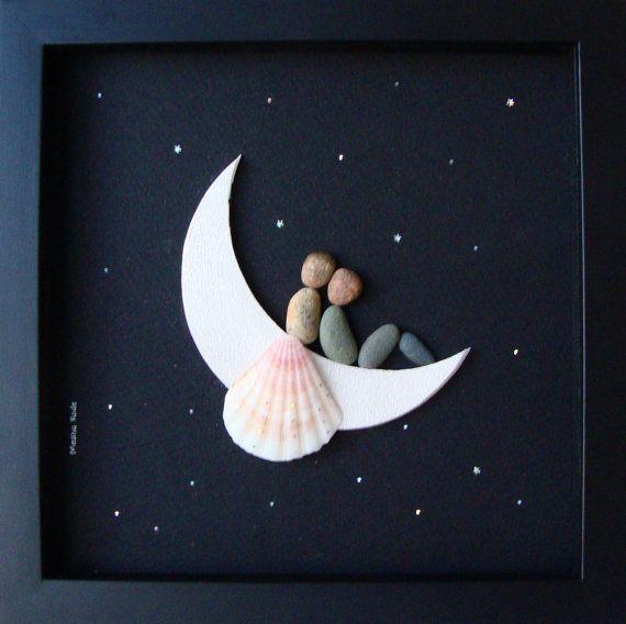 Unique WEDDING Gift-Customized Wedding Gift-Pebble Art-Unique Engagement…