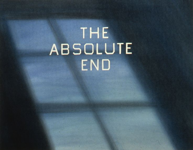 Ed Ruscha, The Absolute End, 1982, de Young Museum
