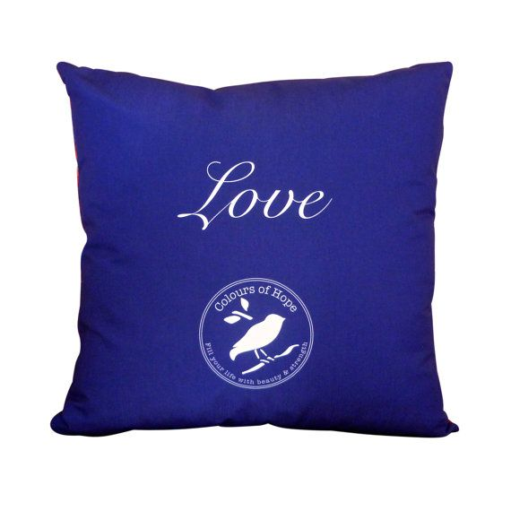 'Furious Love' Art Cushion | Throw Pillow - Unique original designs | soft, silky, luxurious! $49.95 http://coloursofhope.com.au/store?category=cushion