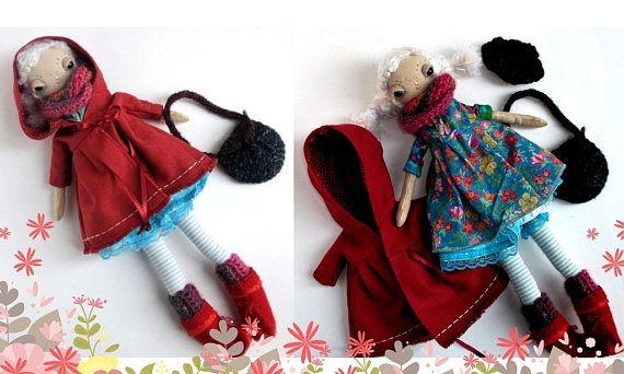 Pippa a one of a kind handmade cloth doll