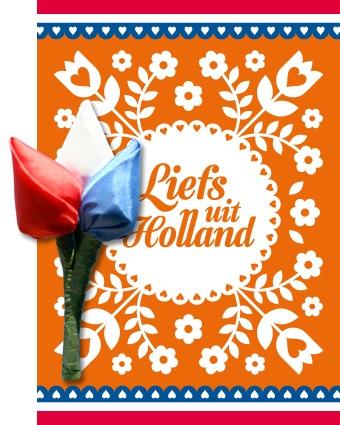 Kadokaart Tulp corsage Holland
