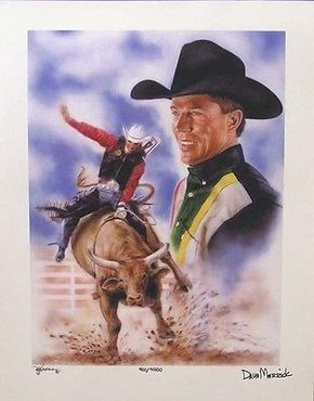Tuff Hedeman Limited Autographed Tuff Hedeman PBR PRCA CBR Pro Rodeo Lithograph Print Poster