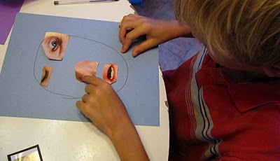 "Make a face from magazine pictures. This activity aligns well with an   ""All About Me"" theme."