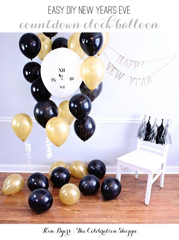 How To Make A NYE Countdown Clock Balloon | @kimbyers TheCelebrationShoppe.com