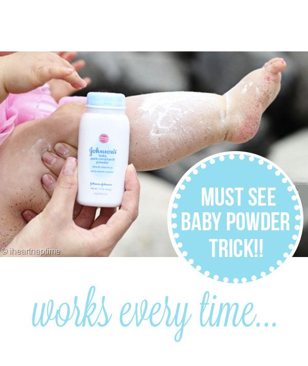 must see baby powder trick on iheartnaptime.com