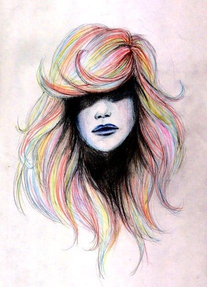 Colorful hair by Ania940421.deviantart.com on @deviantART