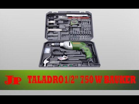 """Kit taladro percutor 1/2"""" 750 w Bauker unboxing español"""