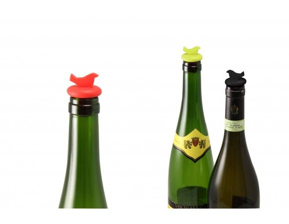 Bottle Stoppers  Top off your open wine bottles with a classy bird stopper.   Comes in a set of 3 so there's always one on hand - not in the bush. Dishwasher safe.