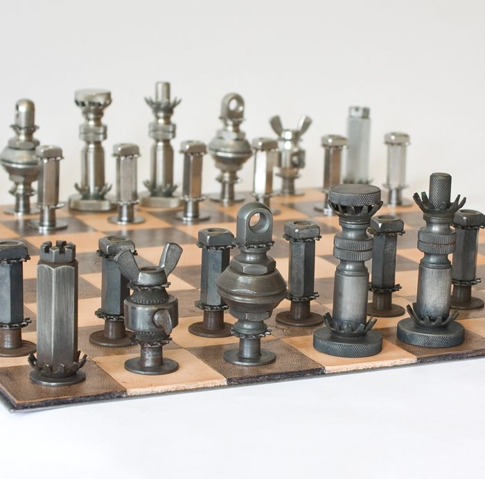 Steel Chess Set mcmasterpieces chess set - detail | craft ideas | pinterest | more