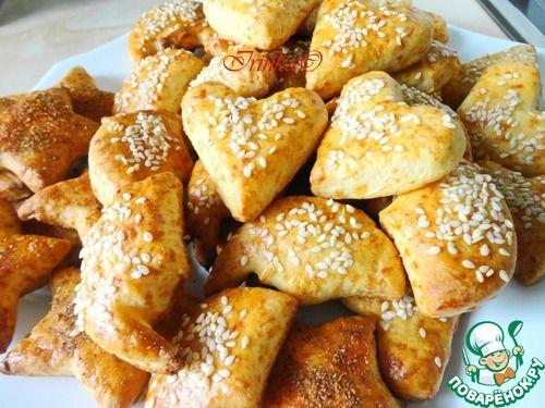 """Сырное печенье """"Арабеска"""" - кулинарный рецепт"""