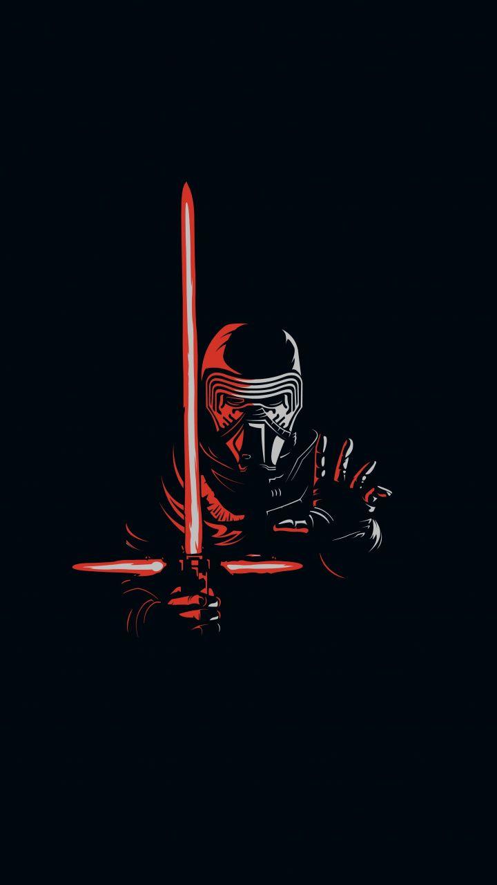 Kylo Ren Minimal Artwork Villain Star Wars Wallpaper Star Wars Wallpaper Star Wars Background Star Wars Wallpaper Iphone