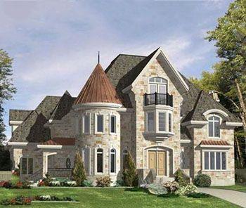 Проектирование дома с башней в стиле замка