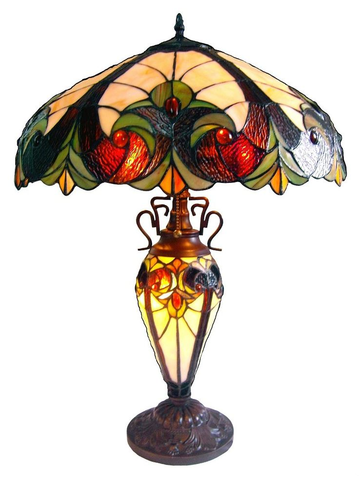 """Chloe Lighting CH18780I-DT3 Light Victorian Double Lit Table Lamp. Width: 18"""" Height: 25"""". Uses two 60 watt A19 Med F+One 15w B9½ Cand F incandescent light bulbs. Power supply required: 120 volts. Rated for interior dry installation. Safety certification: UL (Underwriter's Laboratory) listed."""