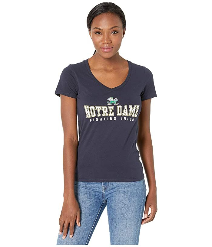 Champion University of Notre Dame T Shirt Navy