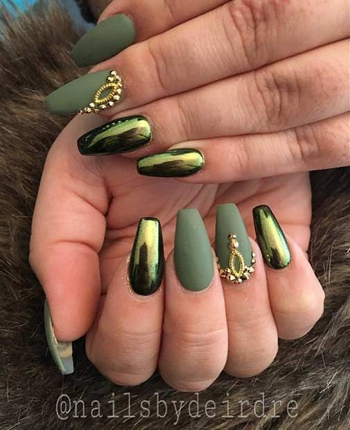 28 best Green chrome nails images on Pinterest | Nail scissors ...