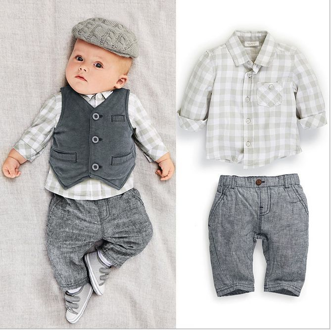 Baby Boy Formal Party Tuxedo Waistcoat Christening Wedding Bow Tie Suit 0-24M #Unbranded #Everyday