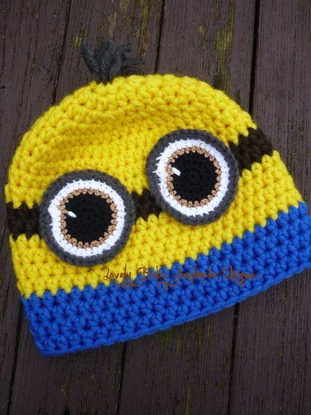 Freche Mütze nach Mini-ON Art 1 Auge oder 2 Augen von Lovely Baby auf DaWanda.com