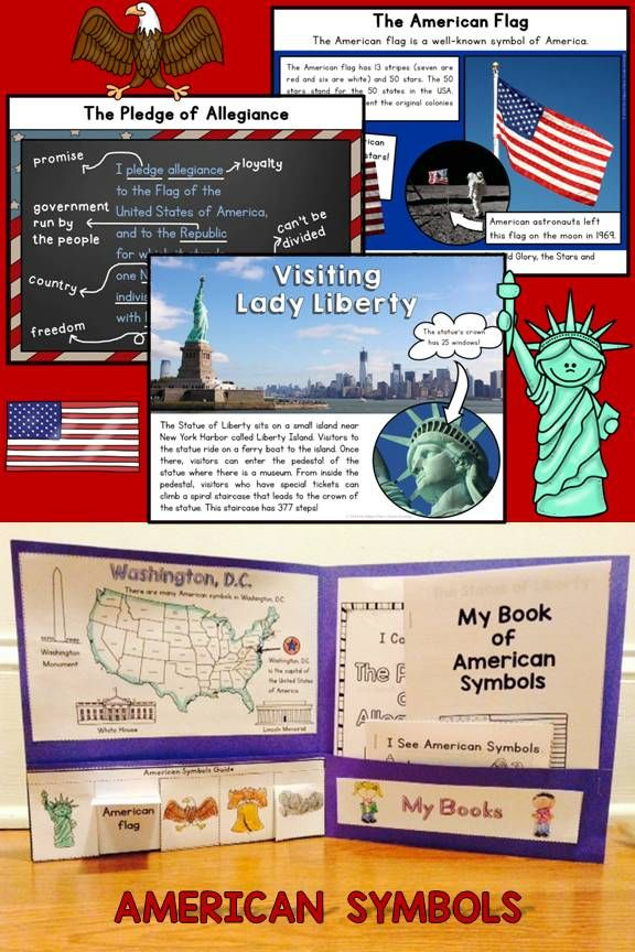American Symbols Unit PowerPoint and Interactive Folder