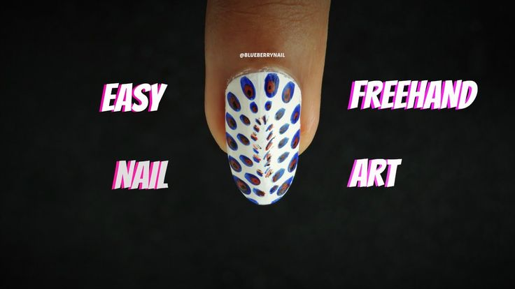 Easy Freehand Blue Red And Black Design Simple Art