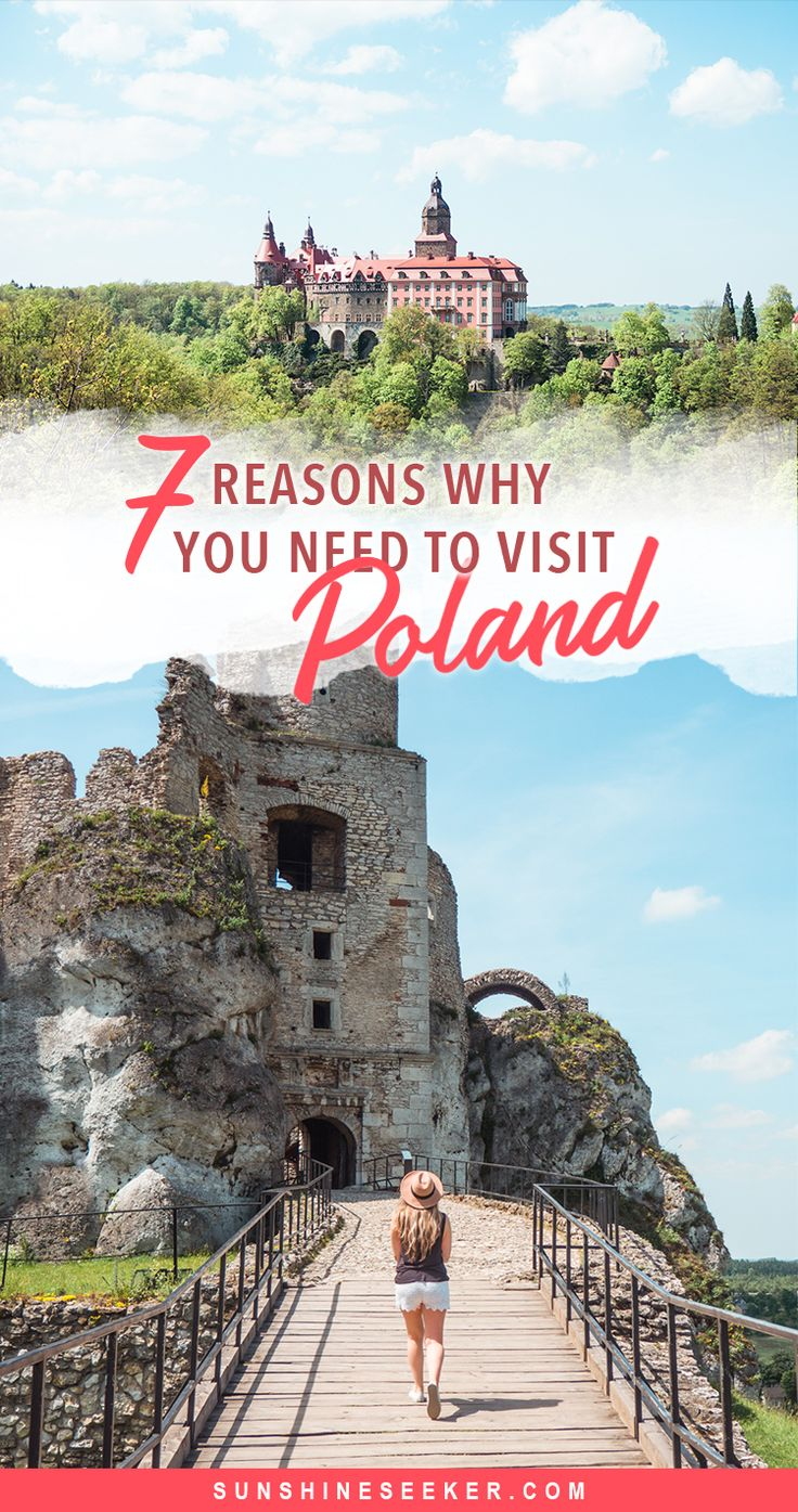 7 reasons why you should visit Poland right now! Looking for an affordable European getaway with something to do for everyone? Incredible nature, Medieval architecture, magical castles, delicious food, great shopping and plenty of spas. Poland has it all, so what are you waiting for?