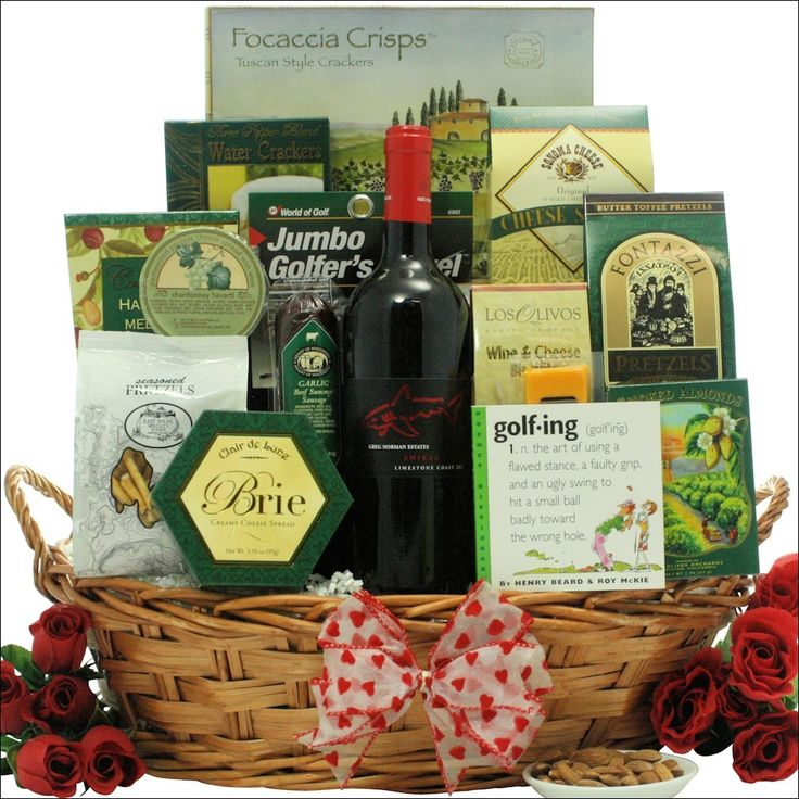 28 best valentines day gift baskets images on pinterest classic valentine valentines day golf wine gift basket negle Image collections