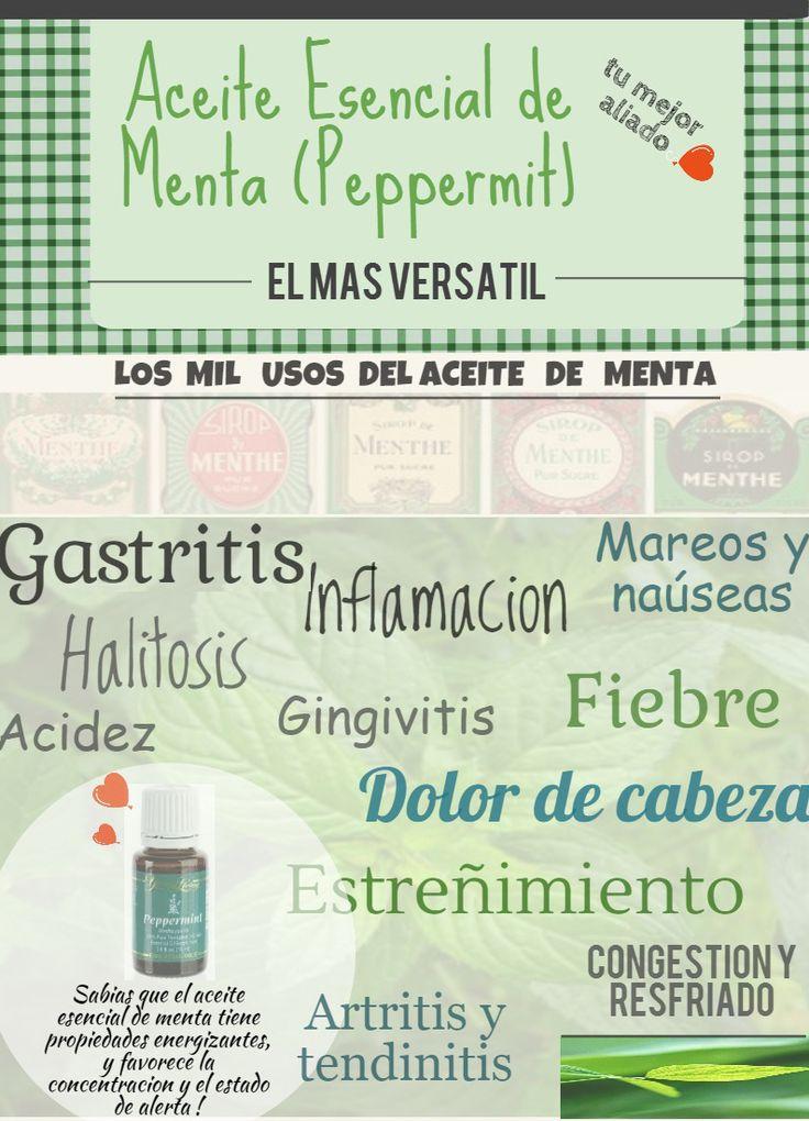 Aceite Esencial de Menta (Español) - Propiedades - Young Living
