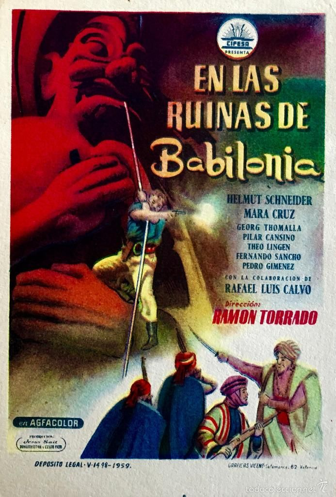 EN LAS RUINAS DE BABILONIA- MARA CRUZ-PILAR CANSINO-RAMON TORRADO-SIN PUBLICIDAD-IMPECABLE - Foto 1
