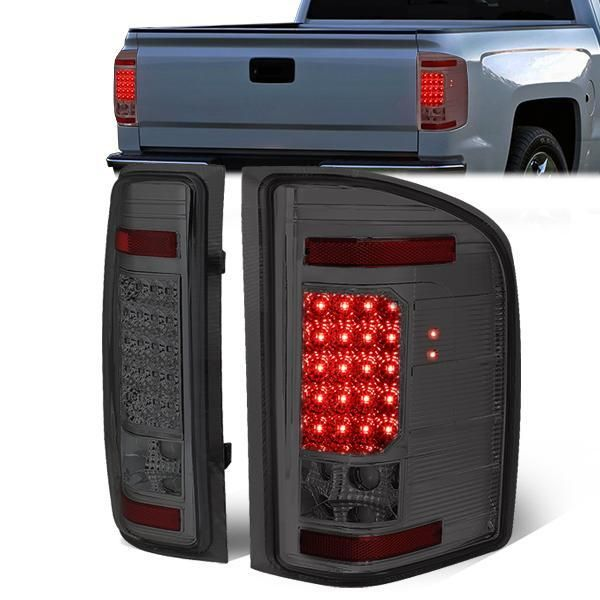 07 14 Chevy Silverado 1500 2500hd 3500hd Led Tail Lights Smoked Tail Light Chevy Silverado Led Tail Lights