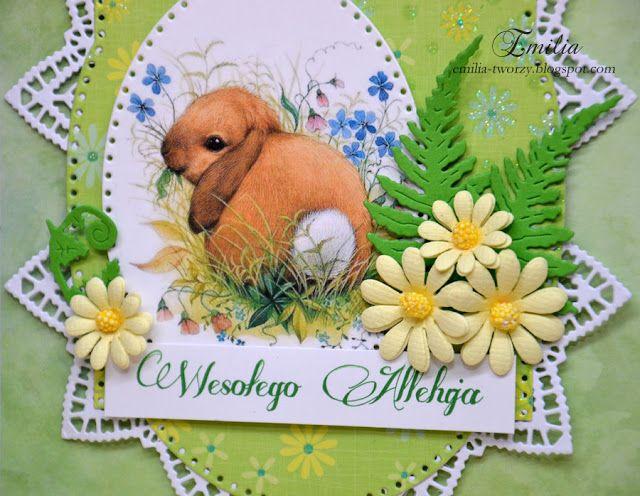 Kartka wielkanocna z króliczkiem/Easter card