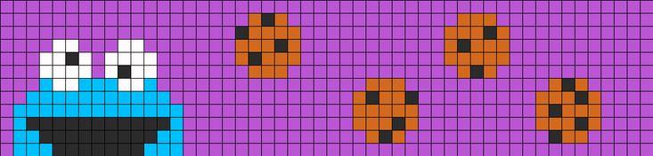 CookieMonsterBraclet Perler Bead Pattern | Bead Sprites | Characters Fuse Bead Patterns