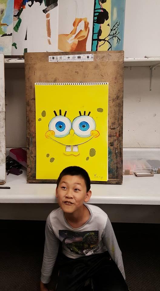 Fun pastel by Yang of Sponge Bob!
