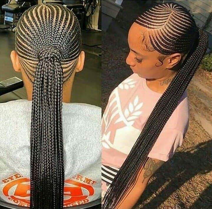 Best Protective Style Ideas For Natural Hair Growth Big Cornrows Hairstyles Cornrow Hairstyles Braided Ponytail Hairstyles