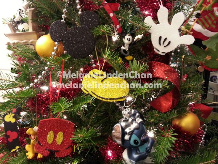 DIY glitter foam sheets Mickey Mouse Ornaments...i also like the hanging beads