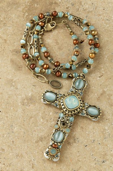 Opal Cross Necklace – Celebrate Faith $115.00 www.celebratefaith.com