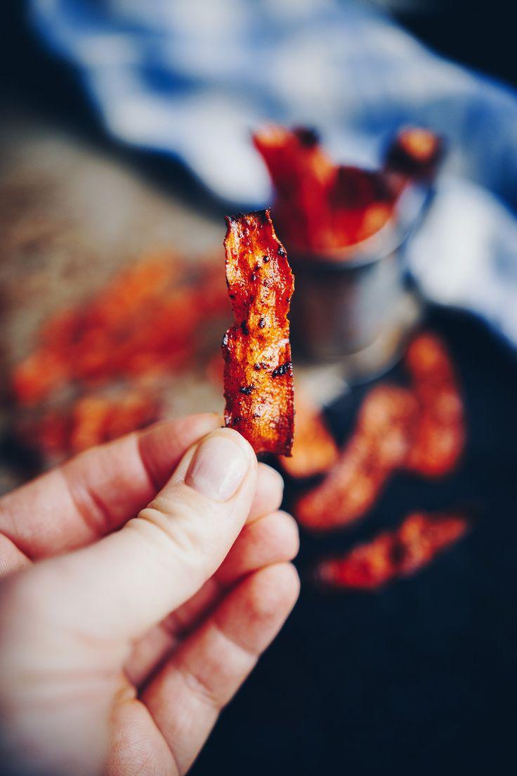 Vegetarisk Bacon på morötter