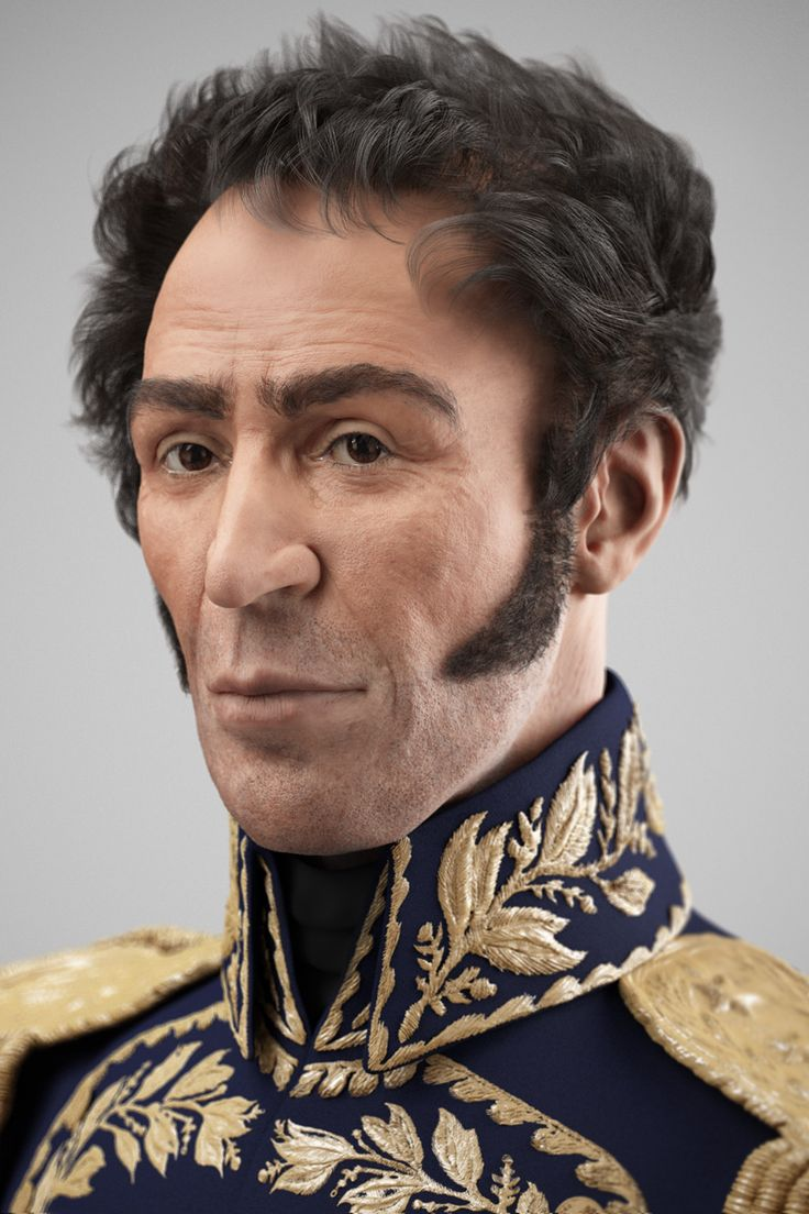 Hugo Chávez apresentou aos venezuelanos o rosto do Libertador Simón Bolívar – a imagem digitalizada a partir da reconstrução facial do seu crânio, um trabalho feito por especialistas desde a exumação de seus restos mortais em 2010.