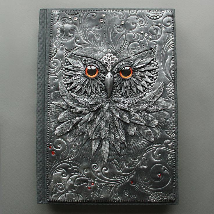 Absolutely amazing polymer clay journals by © Anna Kolesnikova (Mandarin Duck).